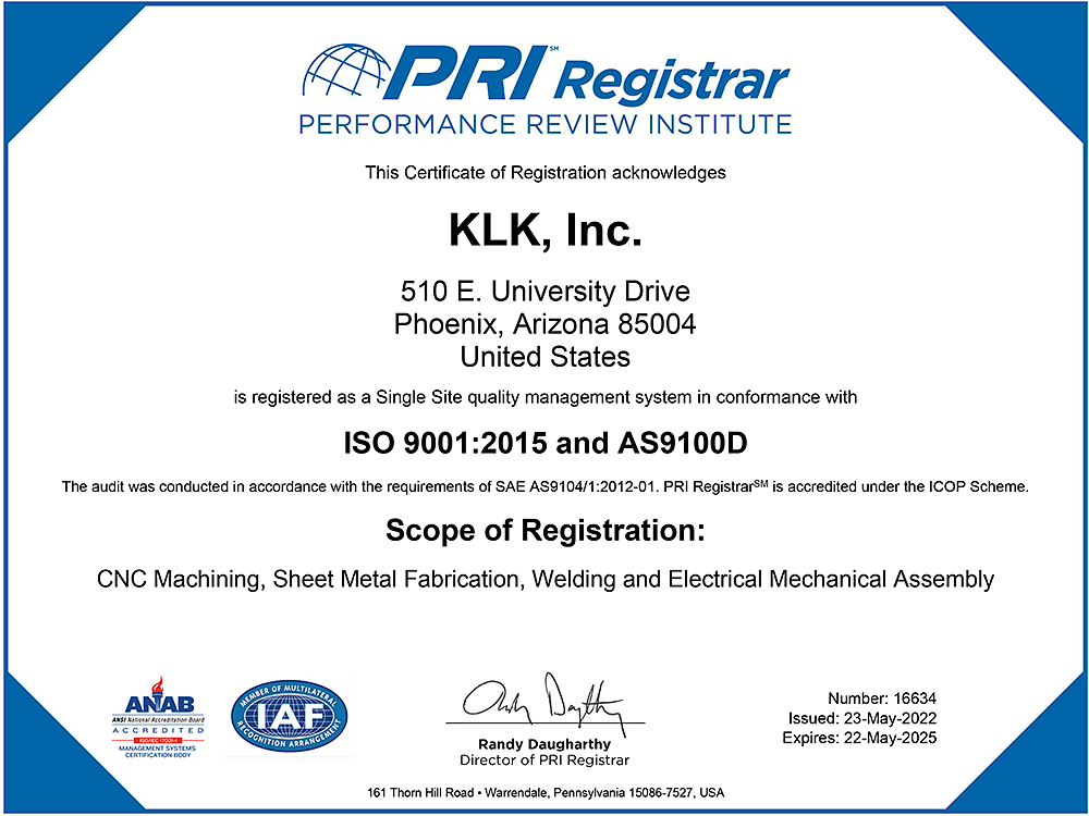ISO 9001:2015/AS9100D